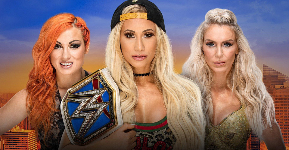 CARMELLA vs BECKY LYNCH vs CHARLOTTE FLAIR