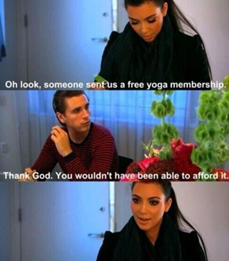 Kim Kardashian and Scott Disick