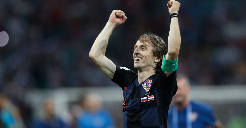 Croatian Captain Luka Modrić