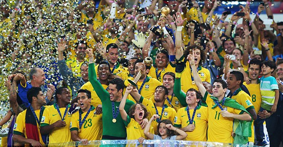 Brazil celebrates World Cup 2002 win