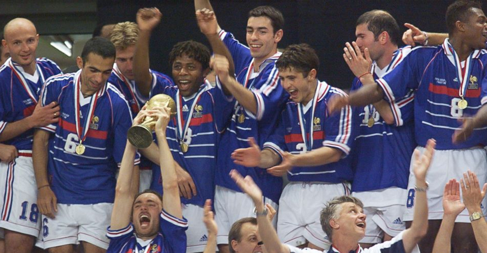 France celebrates 1998 World Cup win