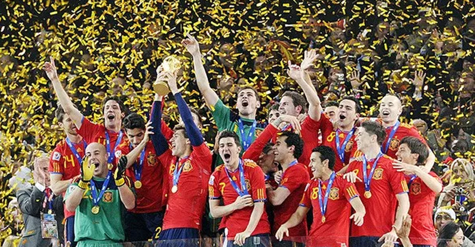 Spain celebrates 2010 World Cup win