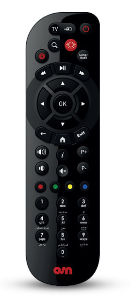 OSN Plus HD Wi-Fi Box Remote
